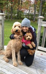 Out for a fall walk with mom & my big bro!